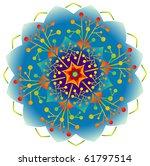 single mandala in rainbow colors | Shutterstock .eps vector #61797514