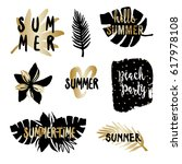 summer typographic design... | Shutterstock .eps vector #617978108