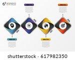 infographic design template.... | Shutterstock .eps vector #617982350
