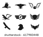 black eagle icons set | Shutterstock .eps vector #617983448