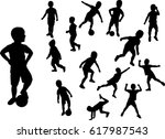 silhouette boy raster version... | Shutterstock . vector #617987543