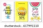 set of summer sale banner... | Shutterstock .eps vector #617991110