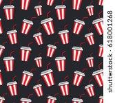 seamless pattern with cartoon...   Shutterstock .eps vector #618001268