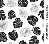 seamless vector tropical...   Shutterstock .eps vector #618025268