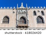 detail of the doge's palace... | Shutterstock . vector #618026420