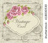 beautiful invitation card with... | Shutterstock .eps vector #618030530