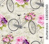 seamless floral pattern with... | Shutterstock .eps vector #618030560
