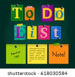 to do list from letters and... | Shutterstock .eps vector #618030584