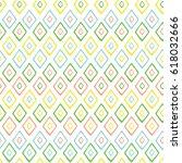hand drawn style geometric... | Shutterstock .eps vector #618032666