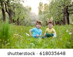 catholic easter tradition egg... | Shutterstock . vector #618035648