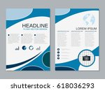 modern business two sided flyer ... | Shutterstock .eps vector #618036293