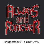rock music typography 2 | Shutterstock .eps vector #618040943
