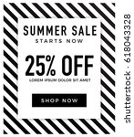 summer sale background with... | Shutterstock .eps vector #618043328