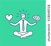 balance. vector illustration of ... | Shutterstock .eps vector #618048518