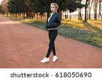 beautiful young woman in a...   Shutterstock . vector #618050690
