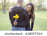 i have something for you my love | Shutterstock . vector #618057314
