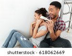 picture of smiling young loving ... | Shutterstock . vector #618062669