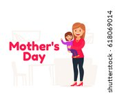 happy mothers day. mother's... | Shutterstock .eps vector #618069014
