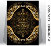 wedding invitation card... | Shutterstock .eps vector #618070004
