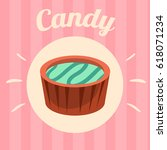 candy on pink background.... | Shutterstock .eps vector #618071234