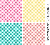 picnic table cloth. color... | Shutterstock .eps vector #618073820