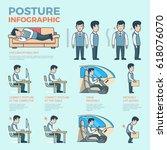 linear flat posture... | Shutterstock .eps vector #618076070