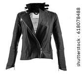 Female Leather Jacket On...