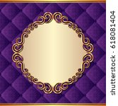 ornate background with baroque...   Shutterstock .eps vector #618081404