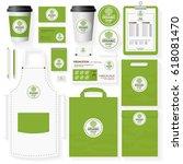 organic shop corporate identity ...   Shutterstock .eps vector #618081470