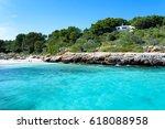 cala sa nau   beautiful bay and ... | Shutterstock . vector #618088958