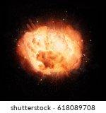 realistic fiery explosion...