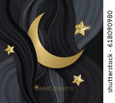 sweet dreams background. night... | Shutterstock .eps vector #618090980