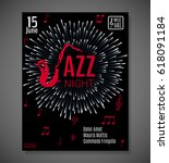 jazz night background. vector... | Shutterstock .eps vector #618091184
