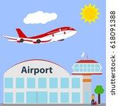 airport icon  vector...   Shutterstock .eps vector #618091388