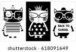 Stock vector cute animal cartoon artwork vector 618091649