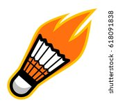 badminton sport shuttlecock... | Shutterstock . vector #618091838