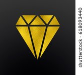 diamond icon with applied...   Shutterstock . vector #618093440