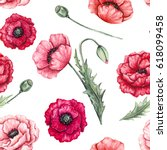 floral seamless pattern of... | Shutterstock . vector #618099458