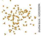 golden confetti. falling...   Shutterstock . vector #618100094