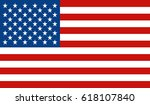 usa flag. vector. | Shutterstock .eps vector #618107840