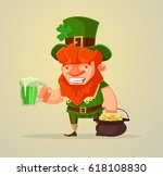 st. patrick's day. man with... | Shutterstock .eps vector #618108830