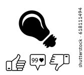 bulb icon stock vector... | Shutterstock .eps vector #618111494