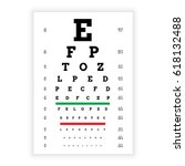 poster for vision testing in... | Shutterstock .eps vector #618132488