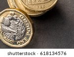 new british one sterling pound... | Shutterstock . vector #618134576