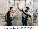 Bearded Men Make Handshake For...