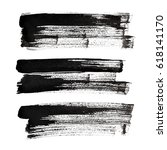 set of black brush strokes... | Shutterstock . vector #618141170