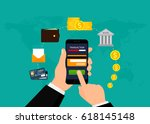 money transaction  business ... | Shutterstock .eps vector #618145148