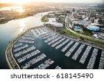 aerial view of redondo beach...   Shutterstock . vector #618145490