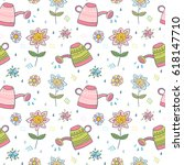 seamless vector pattern with... | Shutterstock .eps vector #618147710