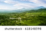 aerial view of tea plantation... | Shutterstock . vector #618148598